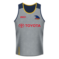 Adelaide Crows 2018 Adults Grey Training Singlet