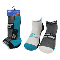 Port Adelaide Power 2 Pack Ankle Sport Socks