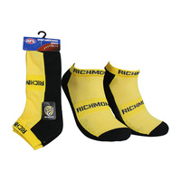 Richmond Tigers 2 Pack Ankle Sport Socks