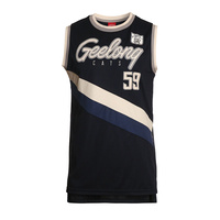 Geelong Cats Men's Throwback Singlet - S18