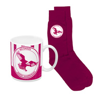 SEA EAGLES HERITAGE MUG AND SOCK PACK