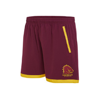 Brisbane Broncos Mens Training Shorts - S18