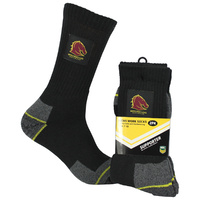 Brisbane Broncos Work Socks - 2 Pack