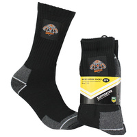 Wests Tigers Work Socks - 2 Pack