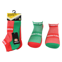 South Sydney Rabbitohs 2 Pack Ankle Sport Socks
