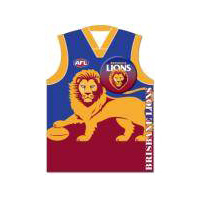 Brisbane Lions Guernsey Badge Greeting Card