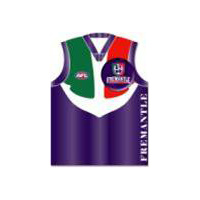 Fremantle Dockers Guernsey Badge Greeting Card