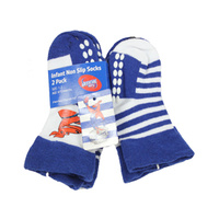 North Melbourne Kangaroos Infant Non Slip Socks - 2 Pack