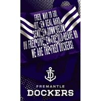 Fremantle Dockers Musical Greeting Card