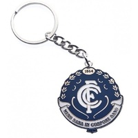 Carlton Blues Metallic Keyring (Logo)