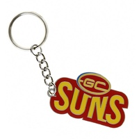 Gold Coast Suns Metallic Keyring (Logo)