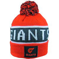 Greater Western Sydney Giants Traditional Bar Beanie