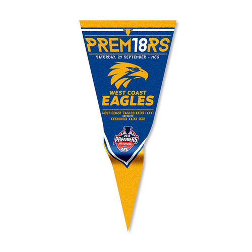West Coast Eagles 2018 Premiership Wall Pennant