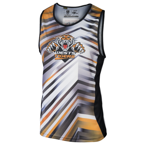 Wests Tigers Mens Training Singlet - W17
