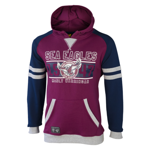 Manly Sea Eagles Youth Fleece Hood - W17