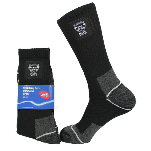 Geelong Cats Work Socks - 2 Pack